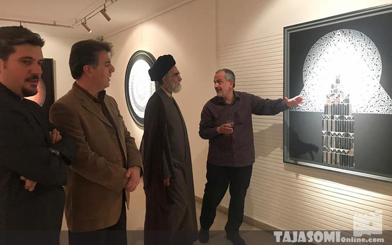 گزارش-تصویری-نمایشگاه-دور-گردون،-آثار-نقاشیخط-امید-خاکباز