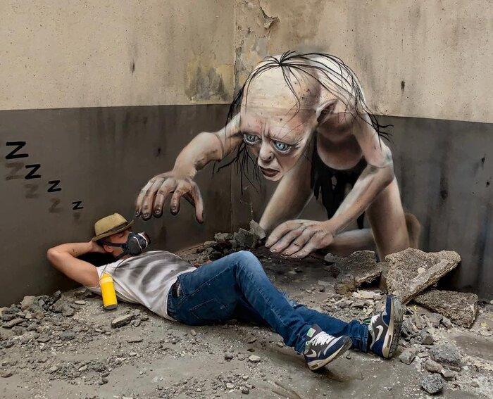 نقش-روی-دیوار-را-با-ابتکار-هنرمند-فرانسوی-سهبعدی