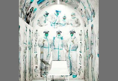 ادای-احترام-هنرمند-چینی-به-پزشکان-درگیر-با-کرونا