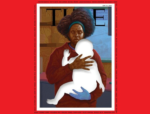 طرح-جلد-مجله-تایم-به-یاد-قربانیان-نژادپرستی-در-آمریکا