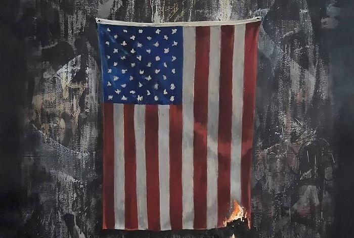 واکنش-بنکسی-به-اعتراضات-امریکا