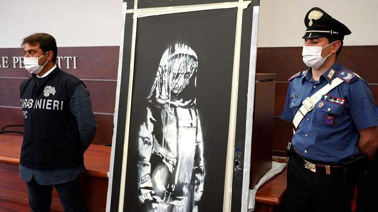 فرانسه-6-نفر-را-در-ارتباط-با-سرقت-اثر-هنری-بنکسی-از-بتکلان-بازداشت-کرد