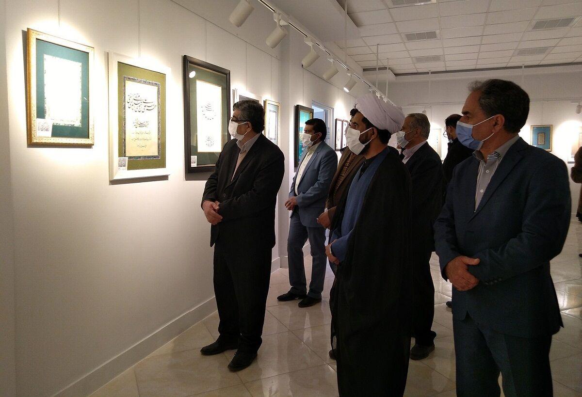 گشایش-نمایشگاه-آثار-جشنواره-ملی-خوشنویسی-رضوی-در-بیرجند